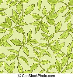 tea leaves seamless pattern