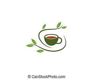 Green Tea logo vector icon template
