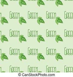 Green tea pattern.