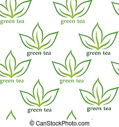 green tea seamless pattern