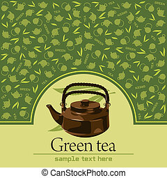 Green tea, vector illustration