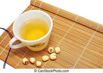 Green tea with Chinese alternative medicine