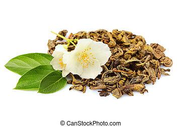 Green tea with Jasmine.
