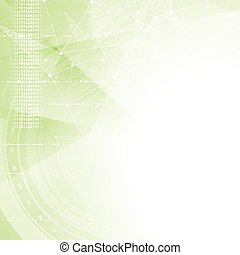 Green tech abstract background