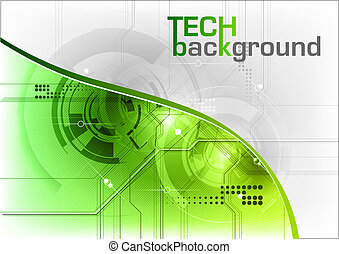 tech background - green tech background with line