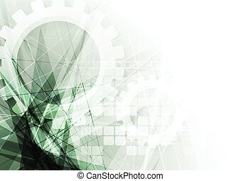 Green tech geometric abstract background