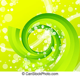 Green techno wave - Vector abstract illustration for your ...