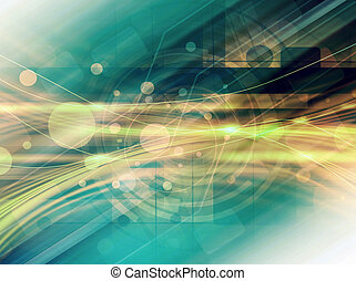 Green Technology Abstract Background