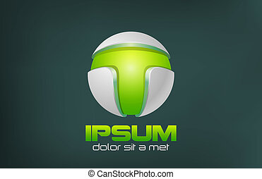 Green Technology Abstract vector logo design. Game concept.