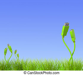 Conceptual image - green technology. 3d