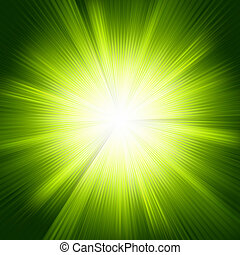 Green template color design with a burst. EPS 8