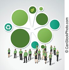Green template for advertising