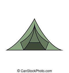 green tent camping