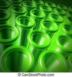 Green Test Tubes