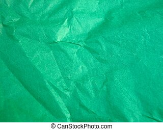 crinkley green paper great for backgrounds