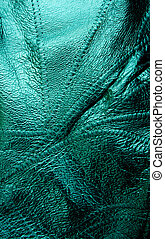 Green Texture Leather Background