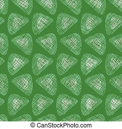 green textured triangles seamless vector pattern