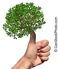 Green Thumb - Green thumb and fingers environment and...