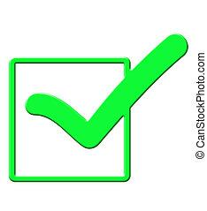 Green tick check mark