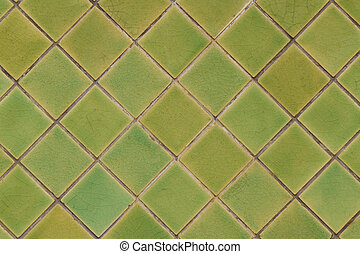 Green tile for pattern and background