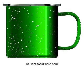 Green Tin Cup