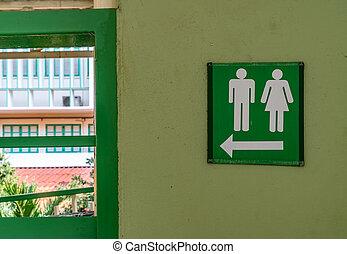 Green Toilet label
