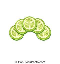Green Tomato 3D Icon design
