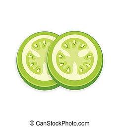Green Tomato 3D Icon