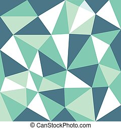 green tone low polygon pattern Background, illustration