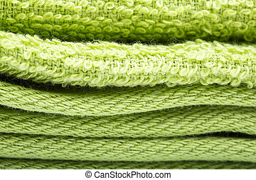 Green towels background