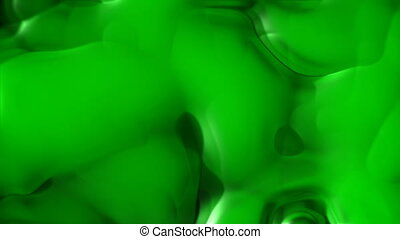 Green liquid abstract motion background (seamless loop)