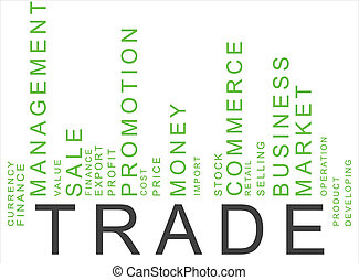 green trade text barcode