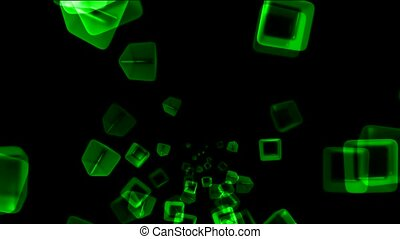 green transparent ice block