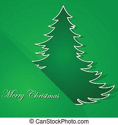 Green tree Christmas card