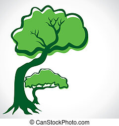 green tree stock vector