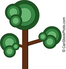 Green tree flat icon vector illustration design for your logo, web site, social media, mobile app