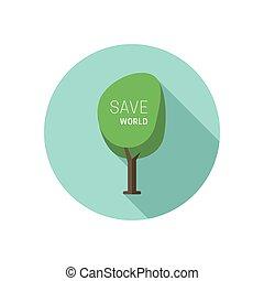 Green tree icon.