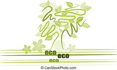 Green tree - illustration vector.