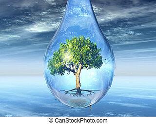 tree in a drop