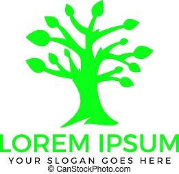 Green Tree logo design.