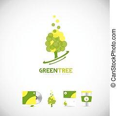Green tree logo icon design