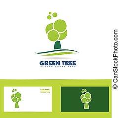 Green tree logo icon