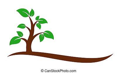 Green tree logo.