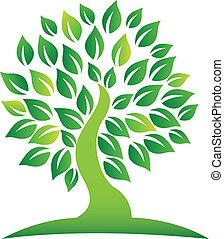 Vector of green tree logo