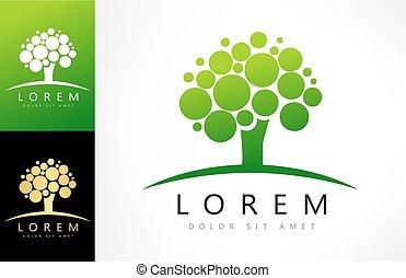 green tree logo vector