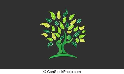 Green Tree Nature. Video Animation
