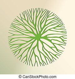 Green tree paper cut for environment concept