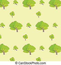 green tree pattern eco icon vector