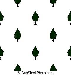 Green tree pattern flat