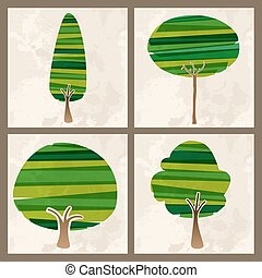 Green tree set